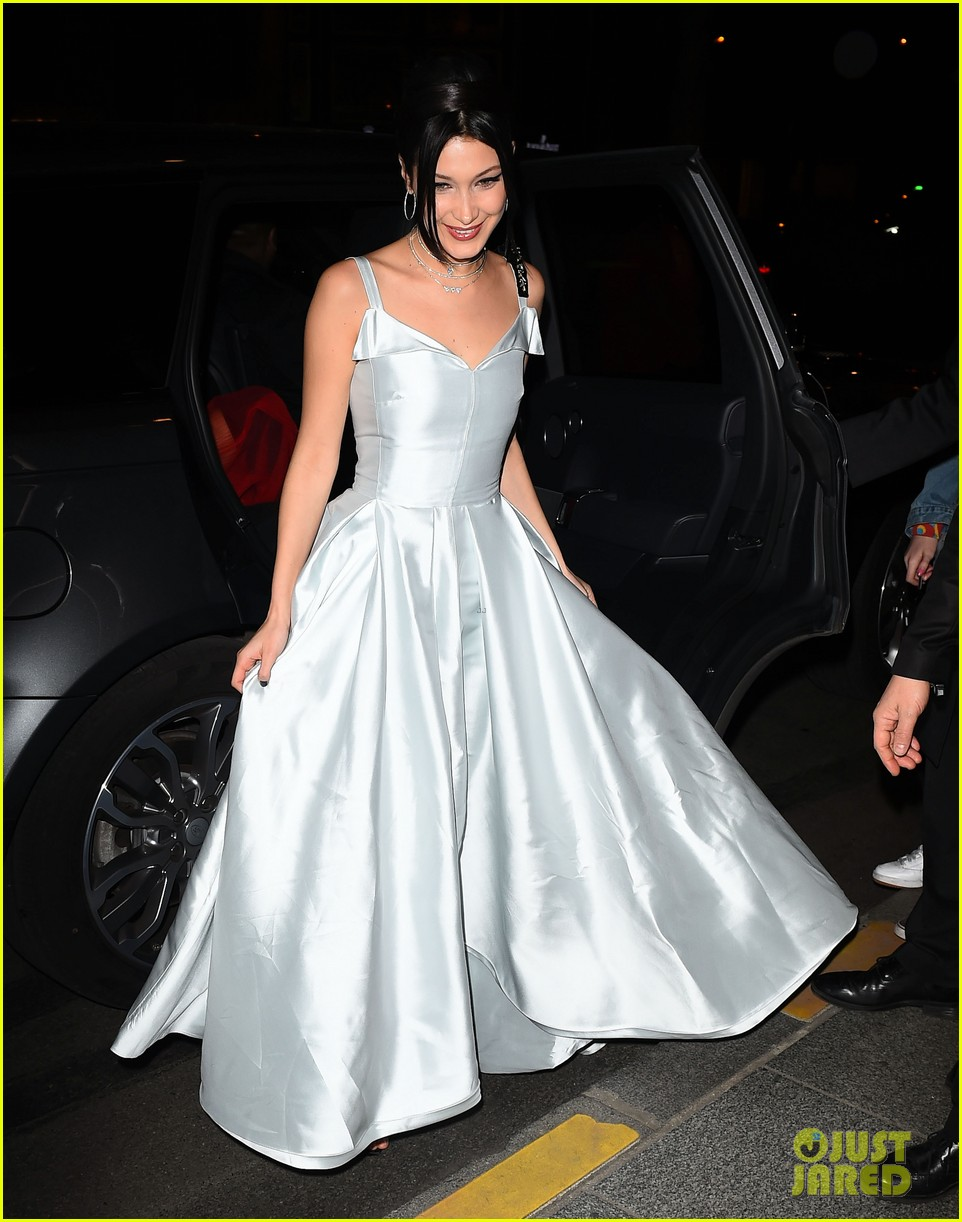 Bella Hadid Stuns in a Silver Gown at Dior Launch Party: Photo ...