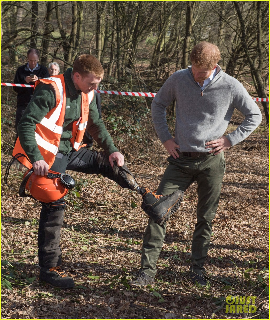 prince harry gets in touch with nature at epping forest 033874276