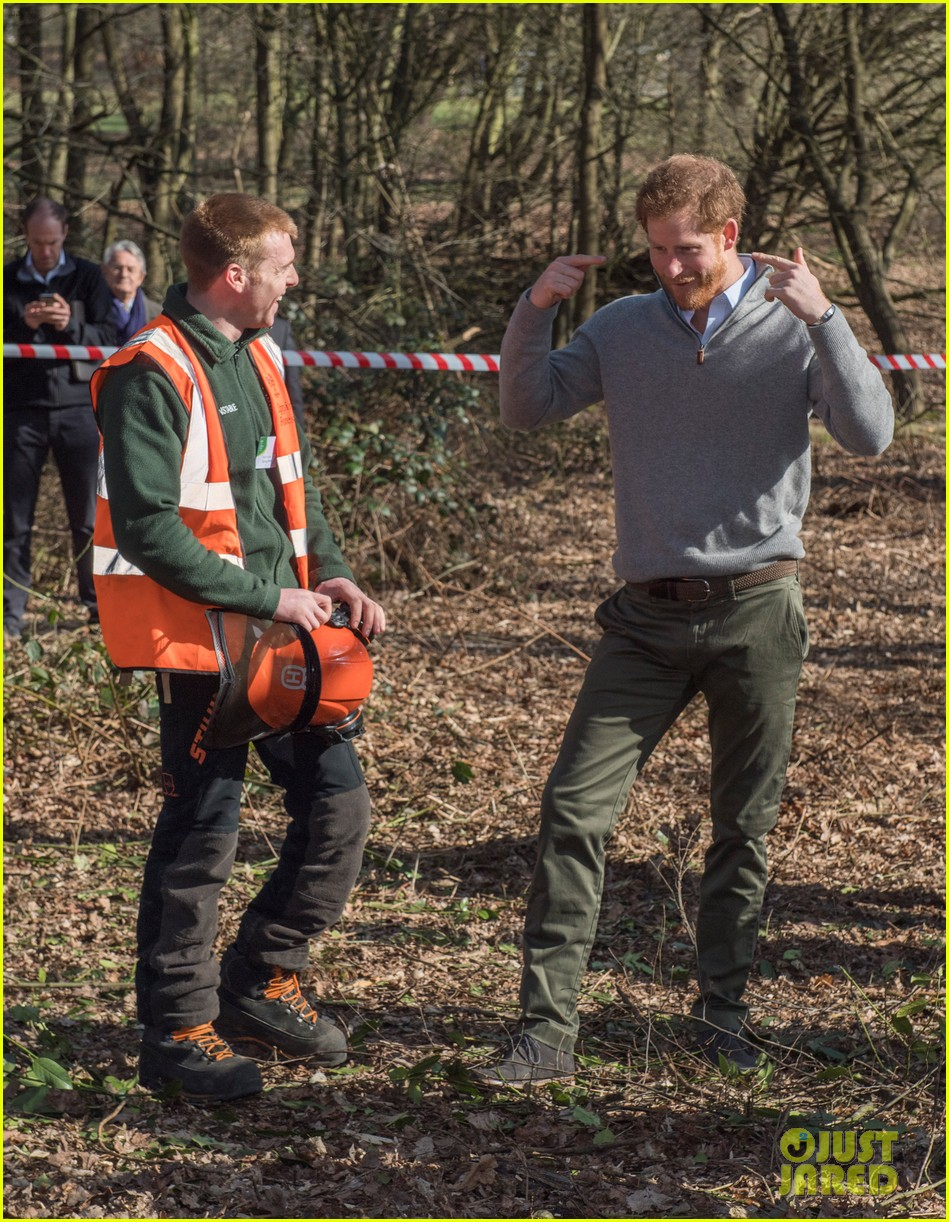 prince harry gets in touch with nature at epping forest 133874286