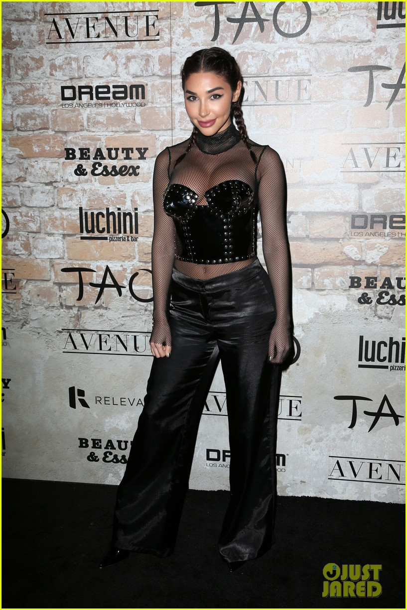 katie holmes hailey baldwin lead celeb studded tao opening block party 113875303