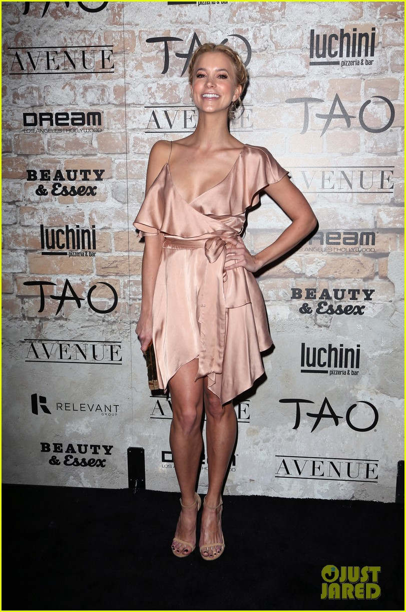 katie holmes hailey baldwin lead celeb studded tao opening block party 143875306