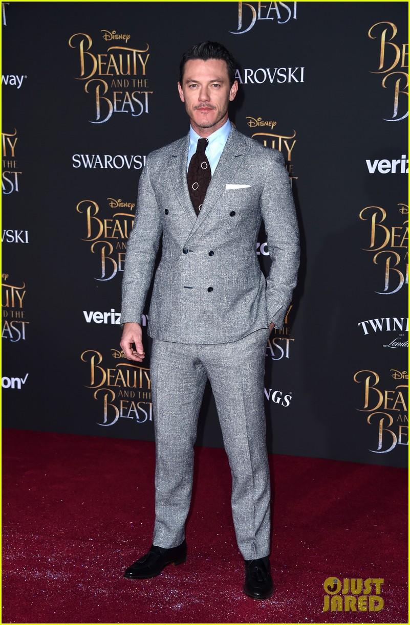 dan luke suit up for the beauty beast premiere 083869375