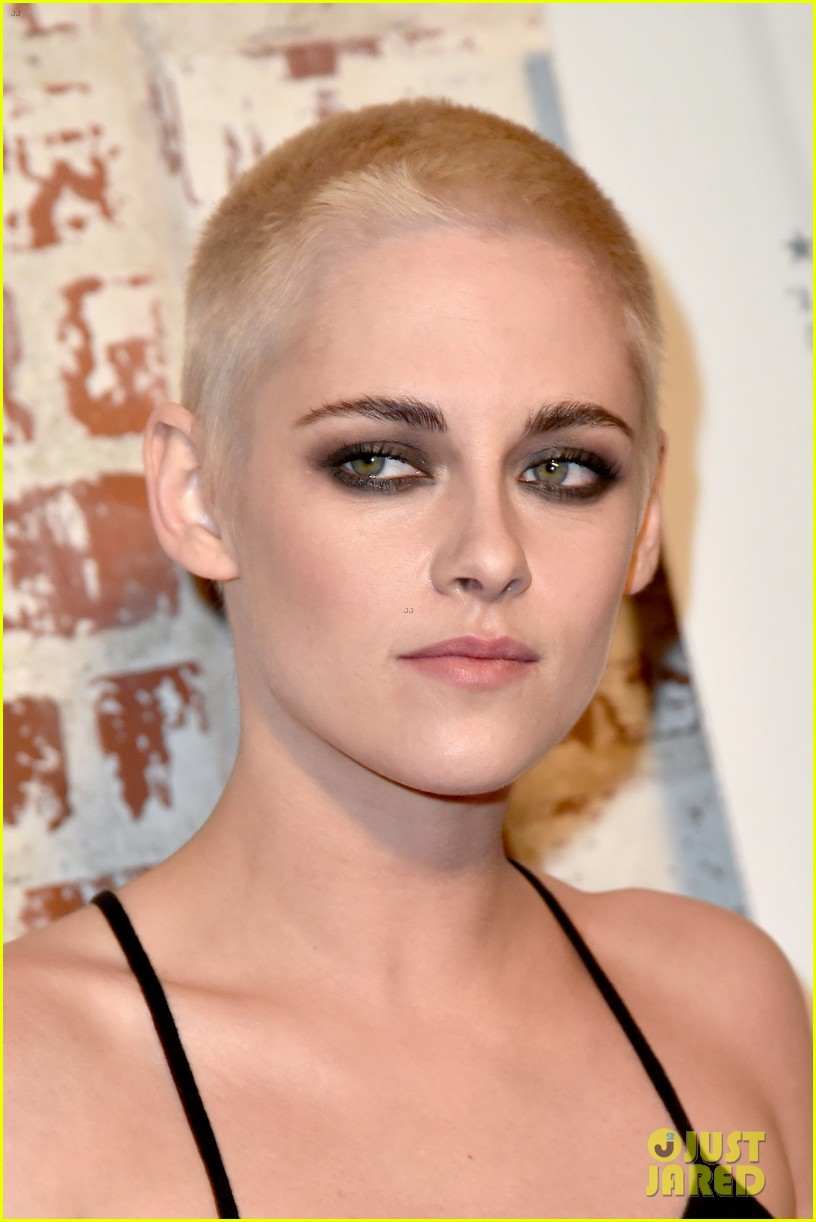 kristen stewart shaves her head bleaches hair blonde 153871204