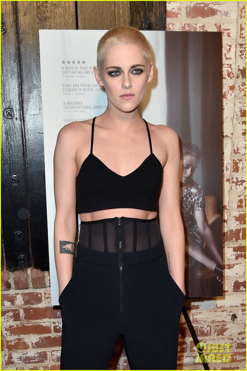 kristen stewart shaves her head bleaches hair blonde 173871206