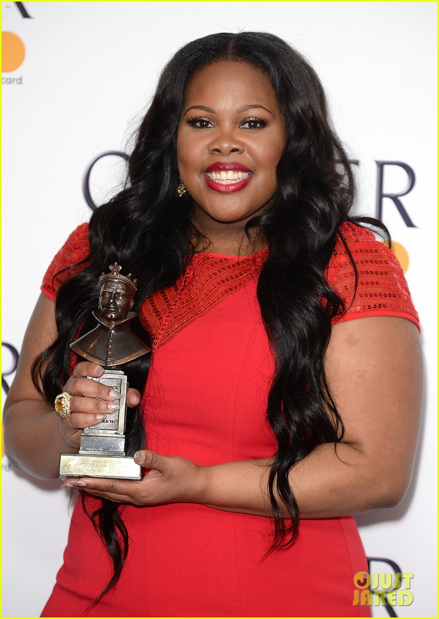 amber riley harry potter win big at olivier awards in london 013884293