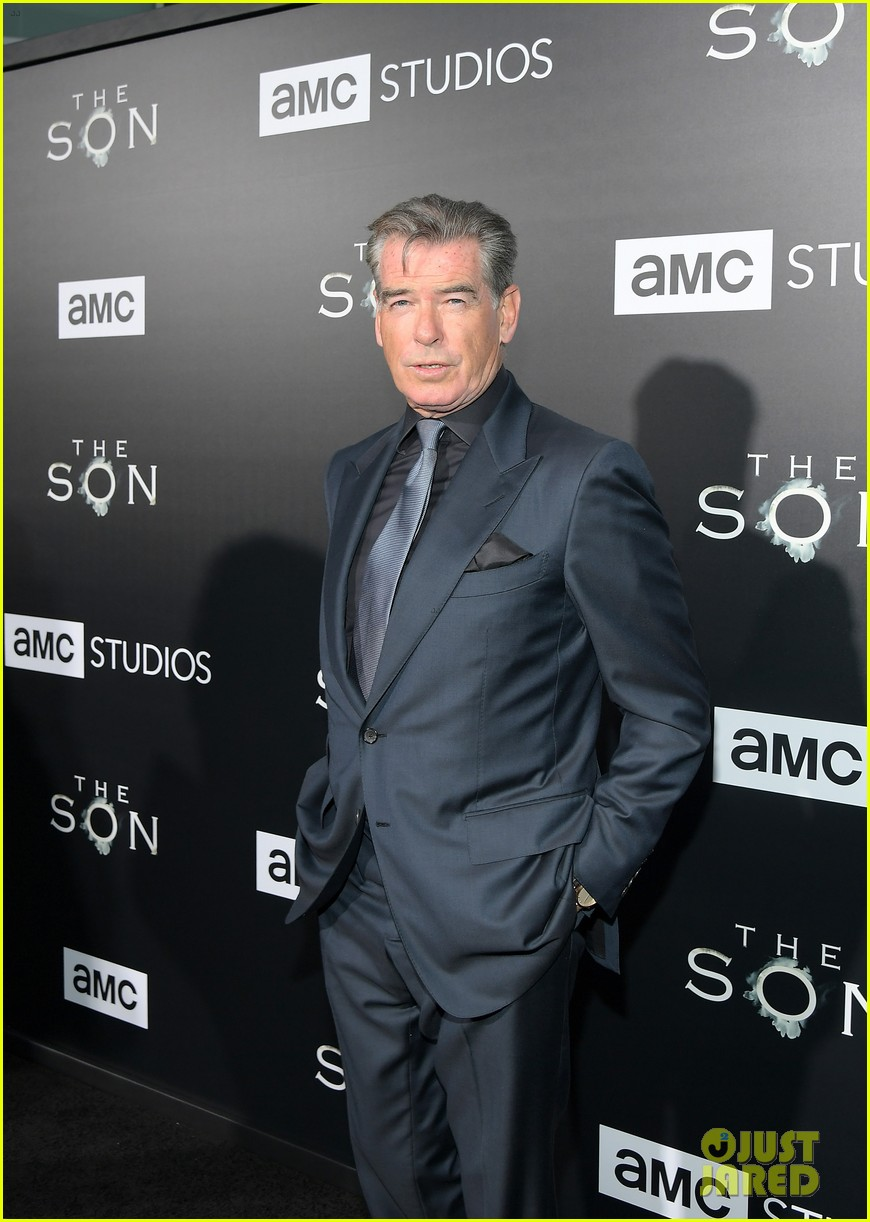 jessica chastain and pierce brosnan premiere the son in hollywood 063881719