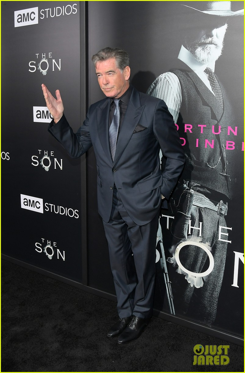 jessica chastain and pierce brosnan premiere the son in hollywood 073881720