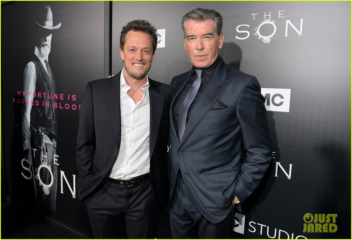 jessica chastain and pierce brosnan premiere the son in hollywood 093881722