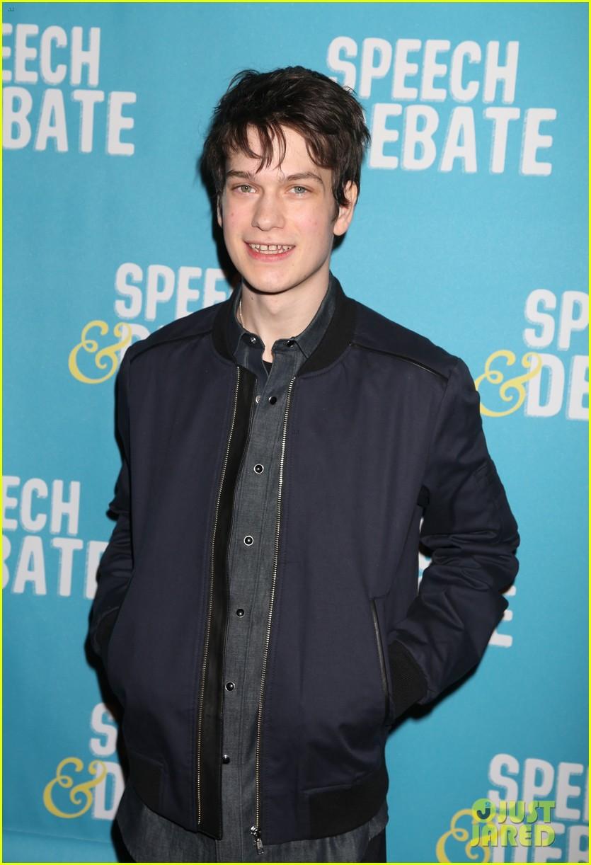 darren criss joins speech debate cast at nyc premiere 013881643