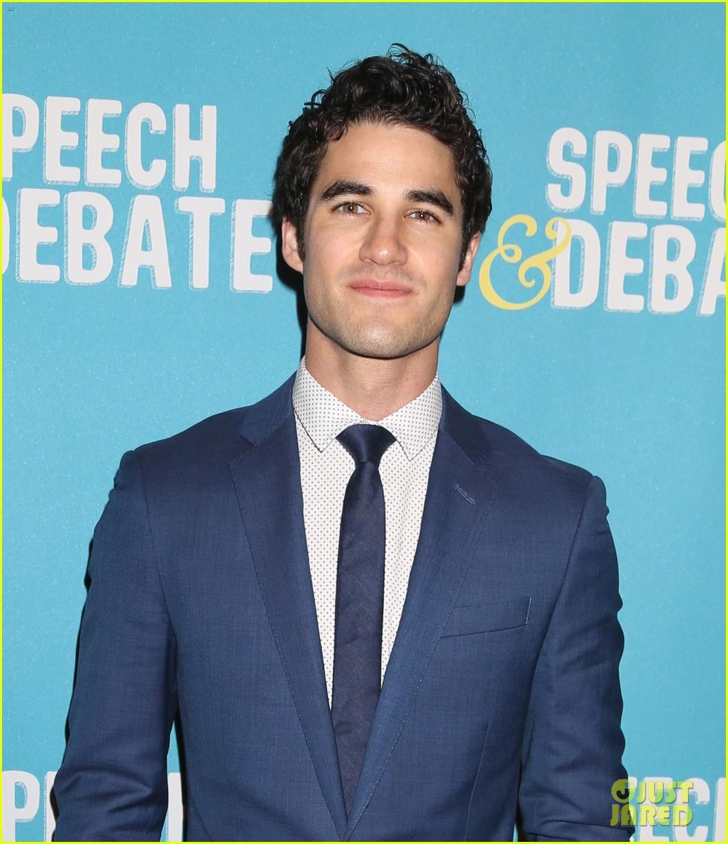 darren criss joins speech debate cast at nyc premiere 053881647