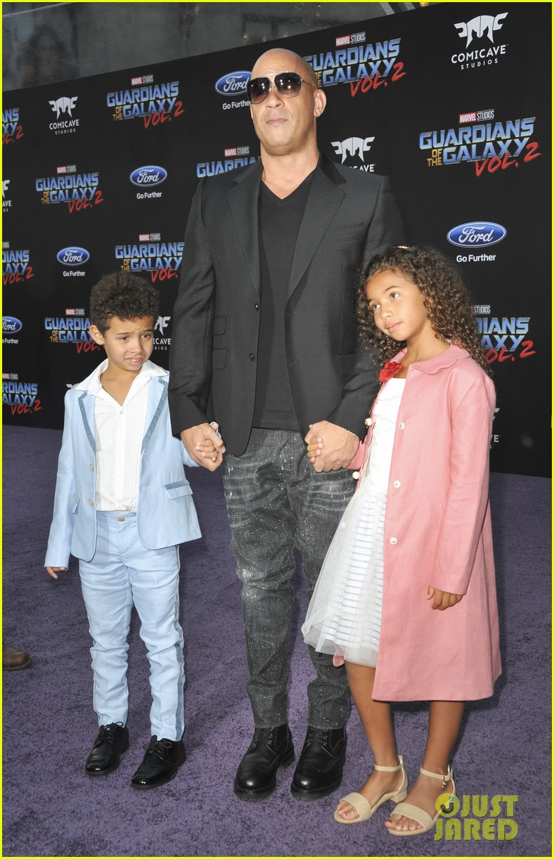 vin diesel brings his kids to guardians 2 premiere 133888569