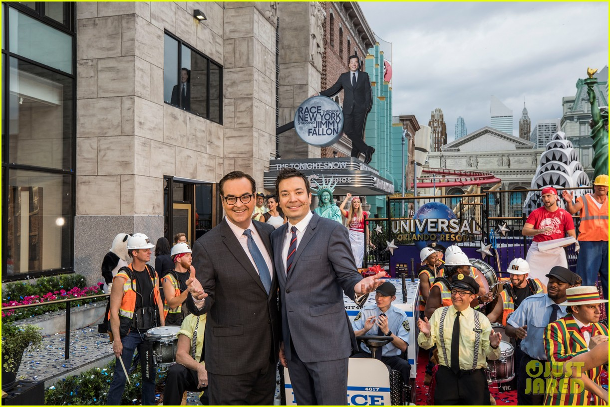 Jimmy Fallon Brings His Wife & Kids to Ride Opening at