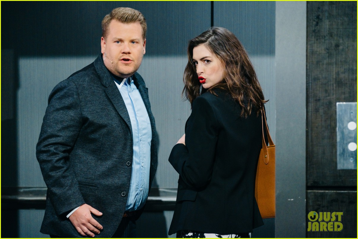 anne hathaway james corden perform epic romantic comedy musical 023888964