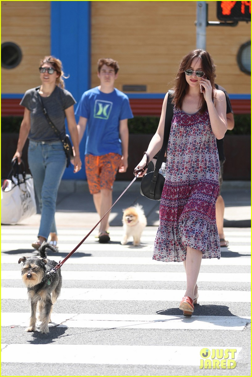 dakota johnson goes boho for santa monica dog walk 023889170