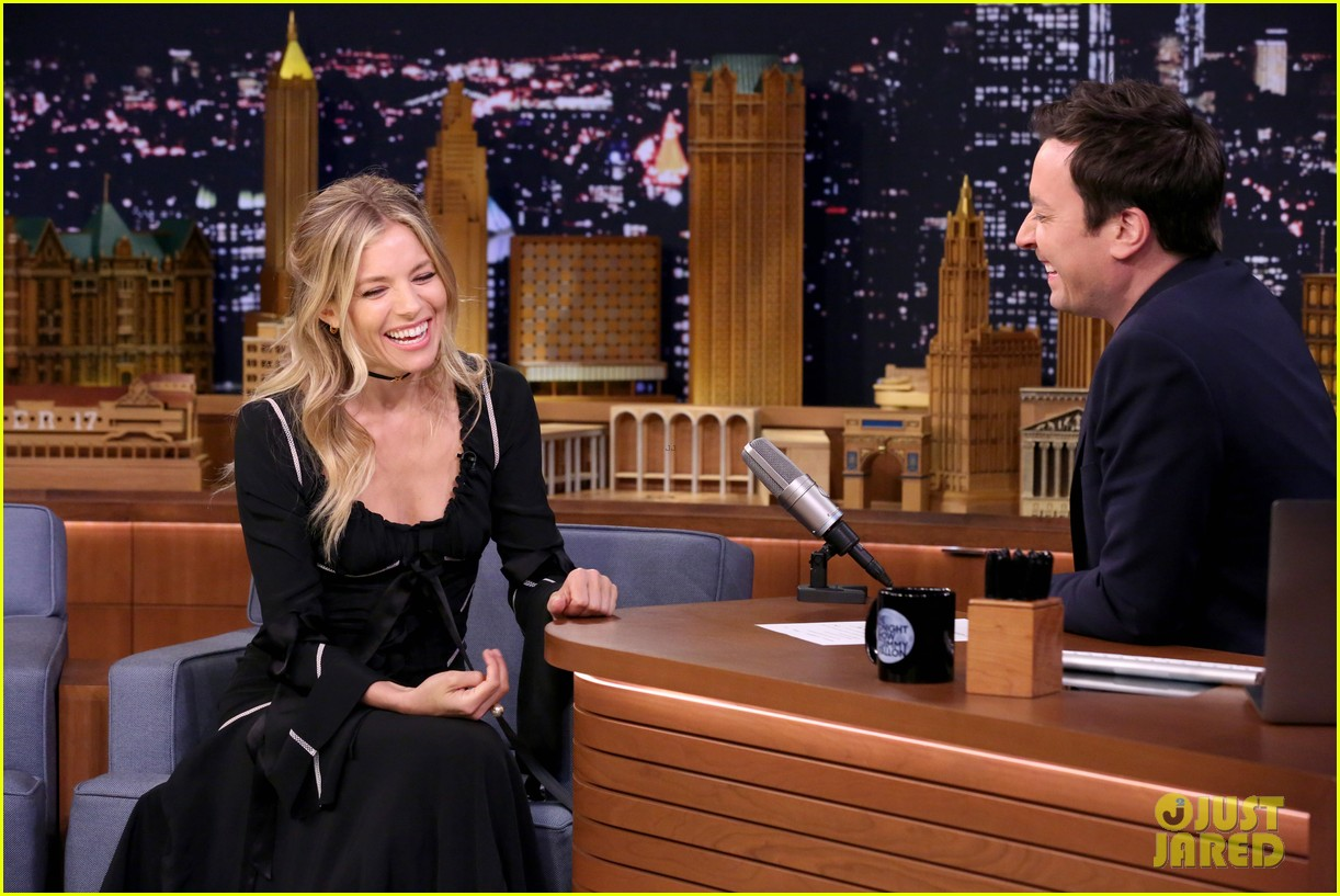sienna miller plays gross food game secret ingredient on tonight show 013888379