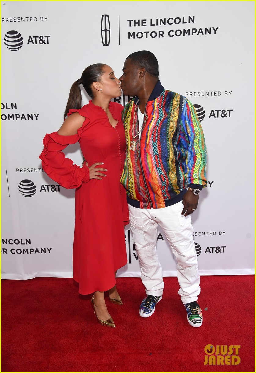 megan wolloever supports tracy morgan at tribeca premiere 043889938