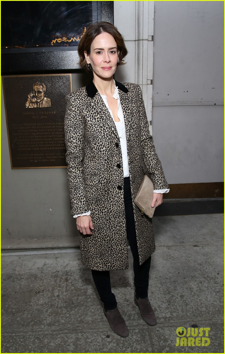 sarah paulson lily rabe have theater night at the little foxes opening 023888412