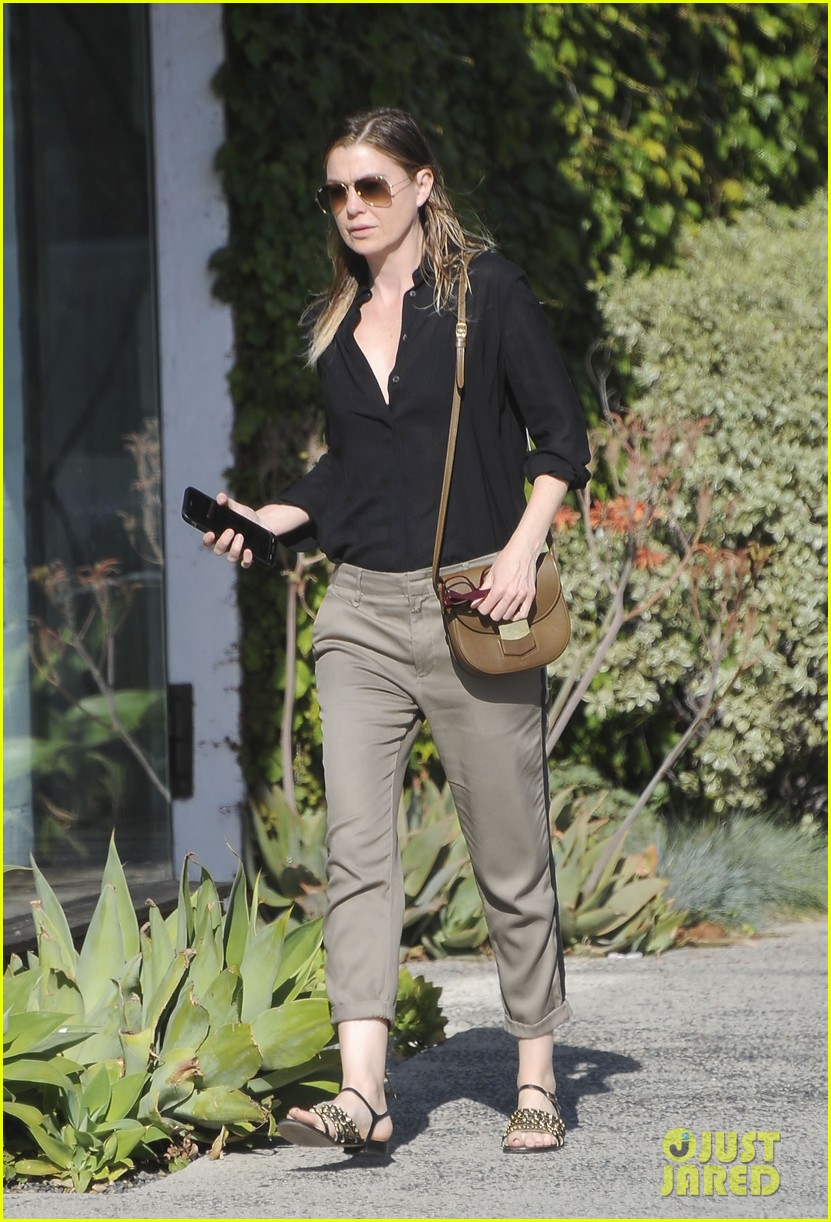 ellen pompeo heads to a meetng in a 053888867