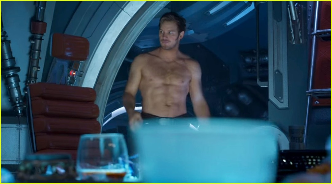 chris pratt guardians shirtless trailer 033887317