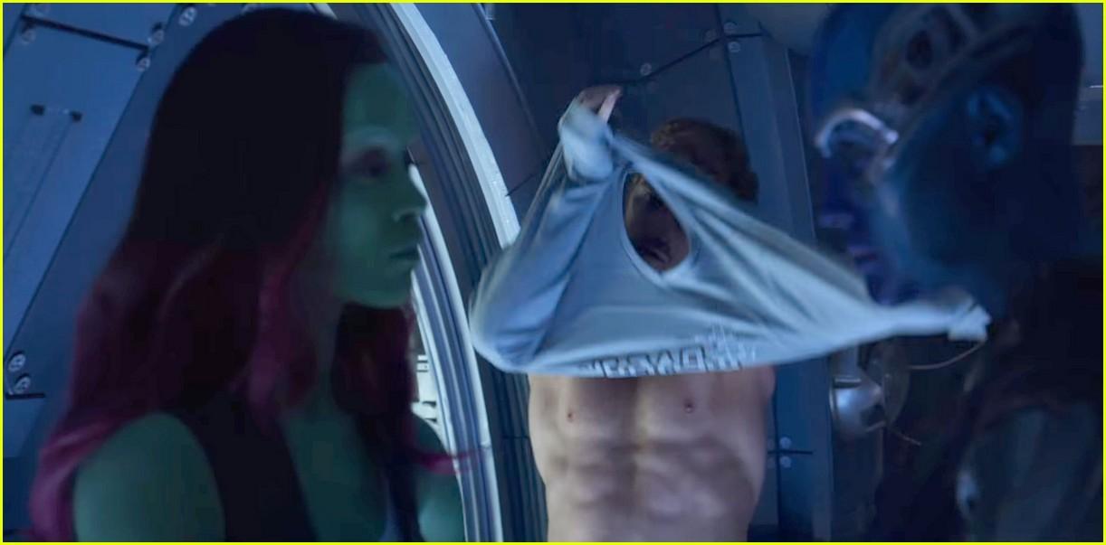chris pratt guardians shirtless trailer 043887318