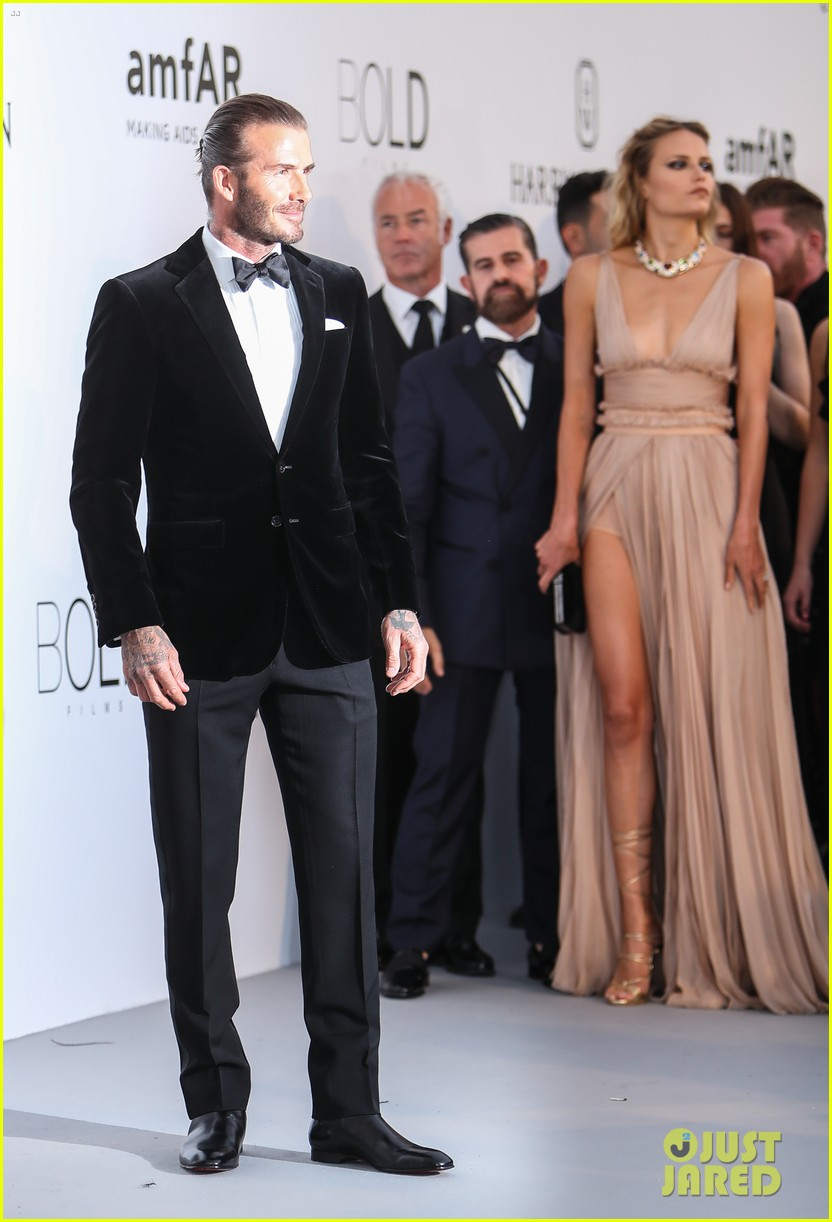 david beckham pulls his hair back at amfar cannes gala 063905760