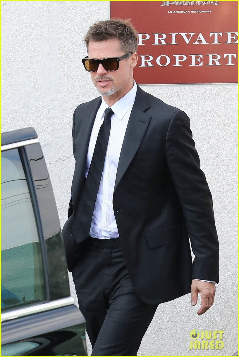 brad pitt luncheon at criags los angeles 013906241