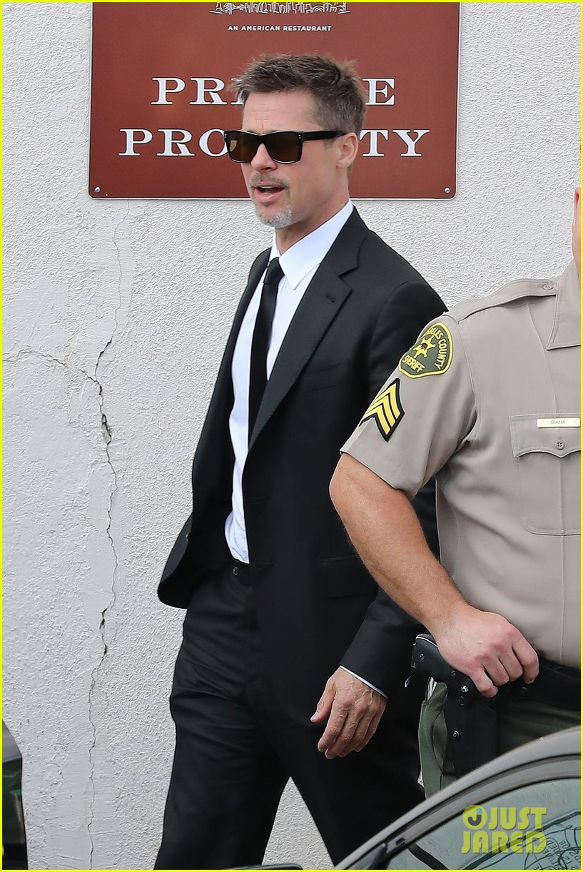 brad pitt luncheon at criags los angeles 033906243