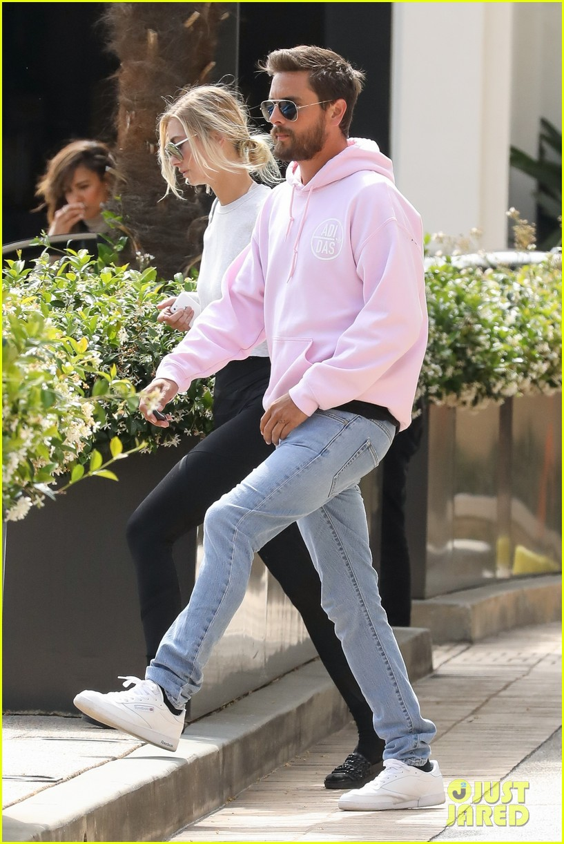 scott disick hangs out with mystery woman in beverly hills023901336