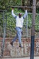 djimon hounsou shows his muscle while working out 05