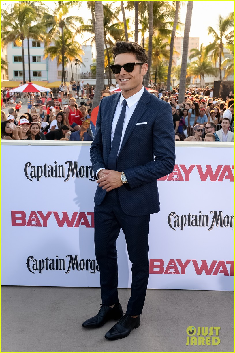 zac efron suits up for the baywatch premiere in miami053898512