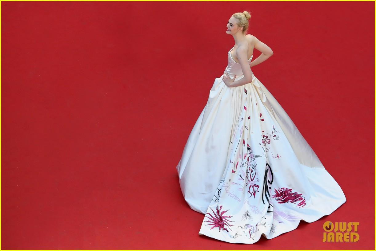 elle fanning dress details lily rose depp cannes opening ceremony 143900410