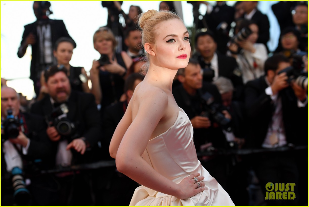 elle fanning dress details lily rose depp cannes opening ceremony 243900420