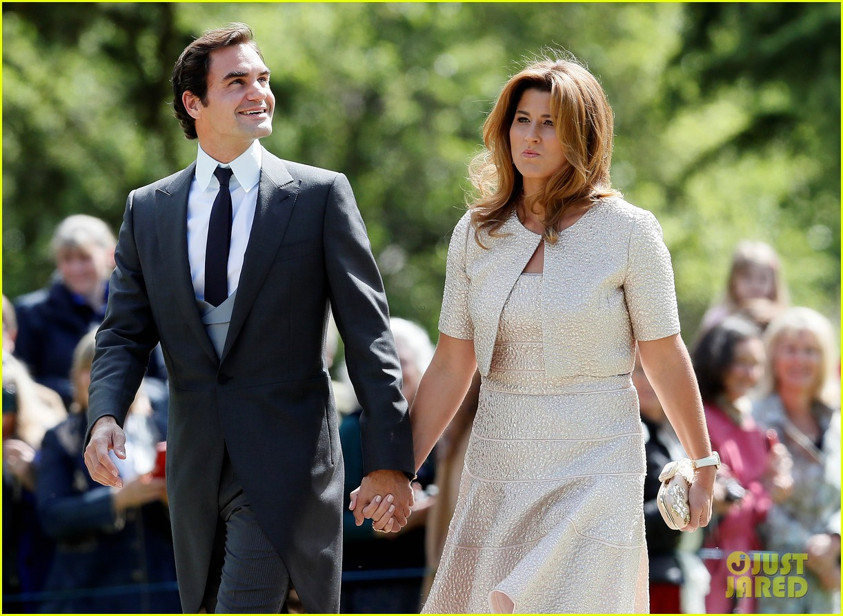 Roger Federer Suits Up for Pippa Middletons Wedding with Wife
