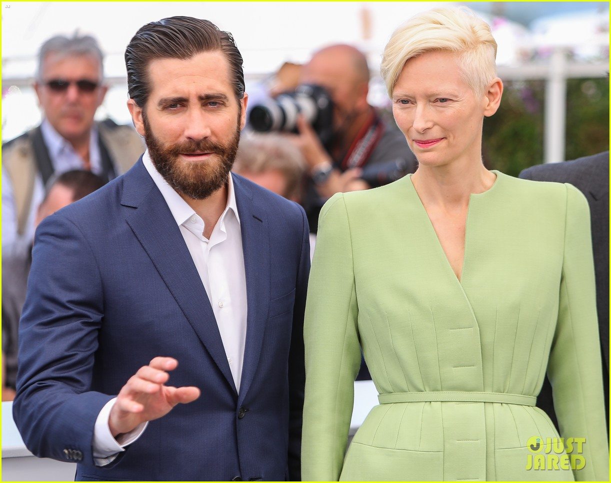 jake gyllenhaal tilda swinton lily collins debut okja at cannes film fest 033901357