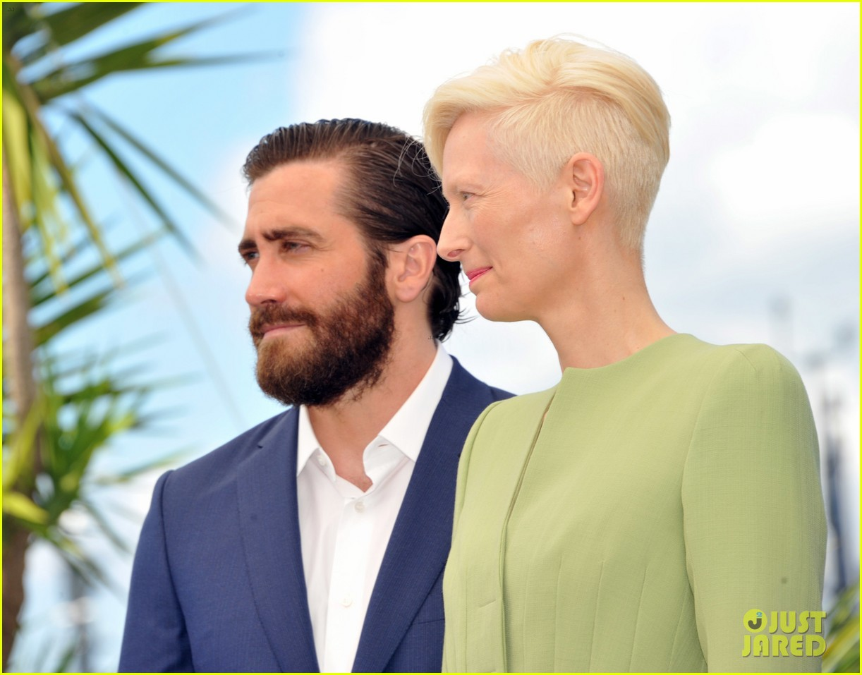 jake gyllenhaal tilda swinton lily collins debut okja at cannes film fest 183901372