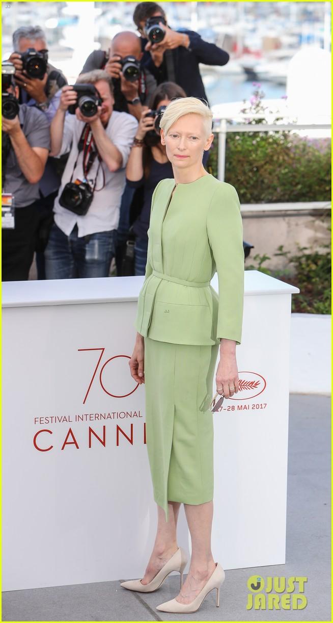 jake gyllenhaal tilda swinton lily collins debut okja at cannes film fest 213901375