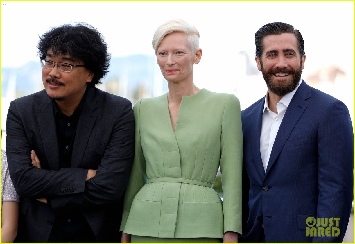 jake gyllenhaal tilda swinton lily collins debut okja at cannes film fest 353901389