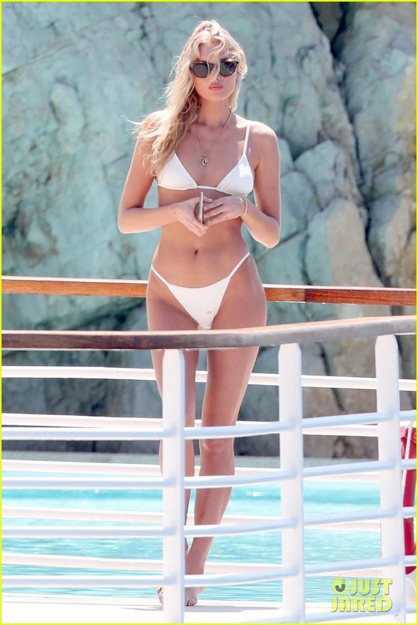 Elsa Hosk Flaunts Sun Kissed Bikini Bod At Cannes Hotel
