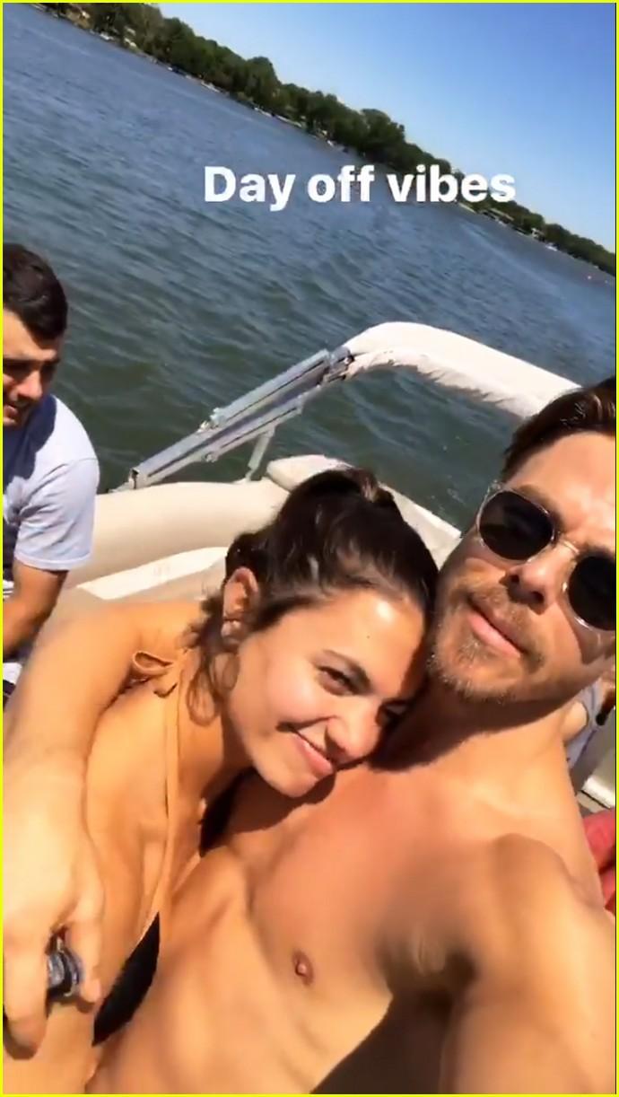 derek hough girlfriend hayley erbert enjoy fun lake day 023907071