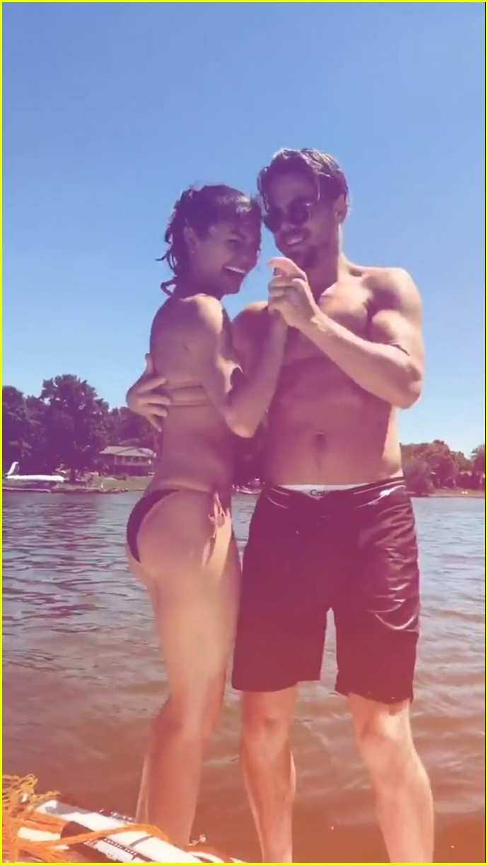 derek hough girlfriend hayley erbert enjoy fun lake day 033907072