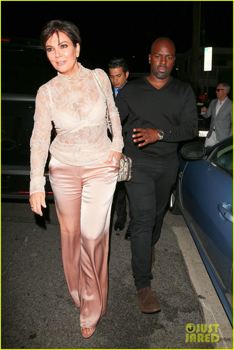 Kris Jenner Wears See Through Top For Dinner Date With Corey Gamble