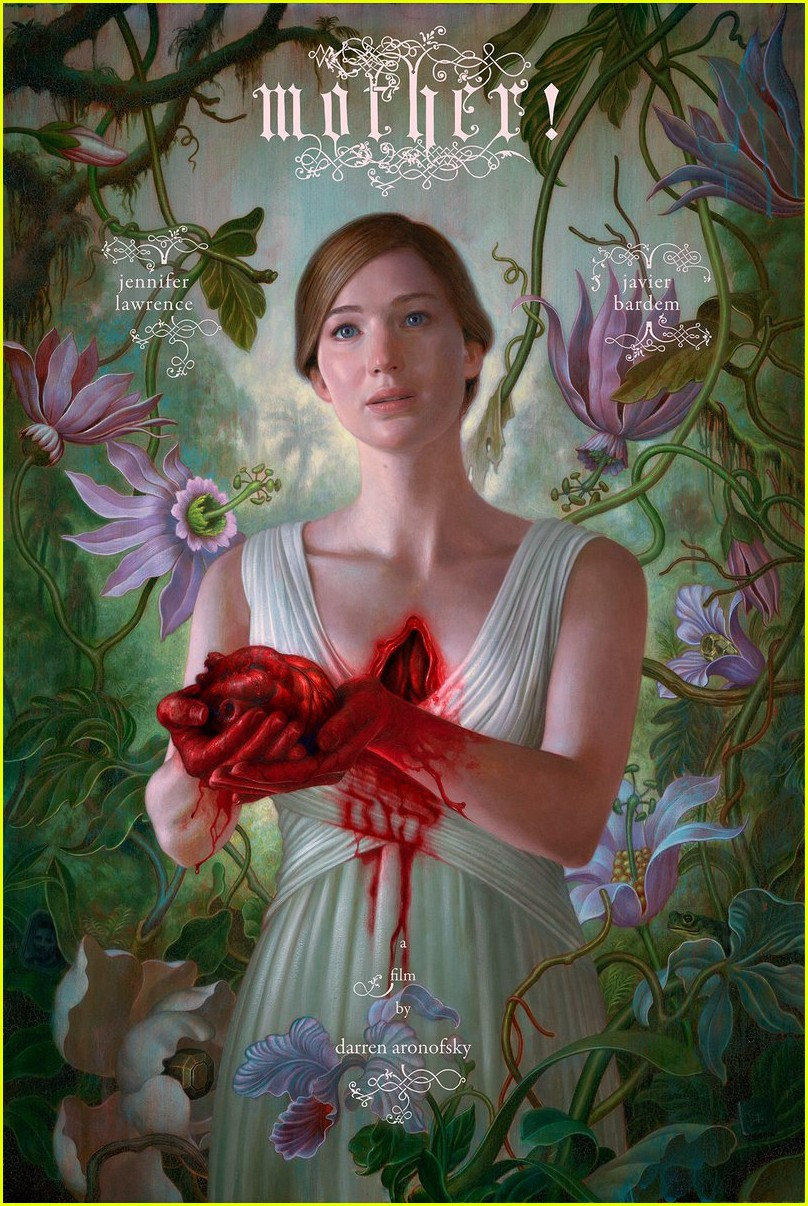 jennifer lawrence rips heart out on new mother poster 013898768