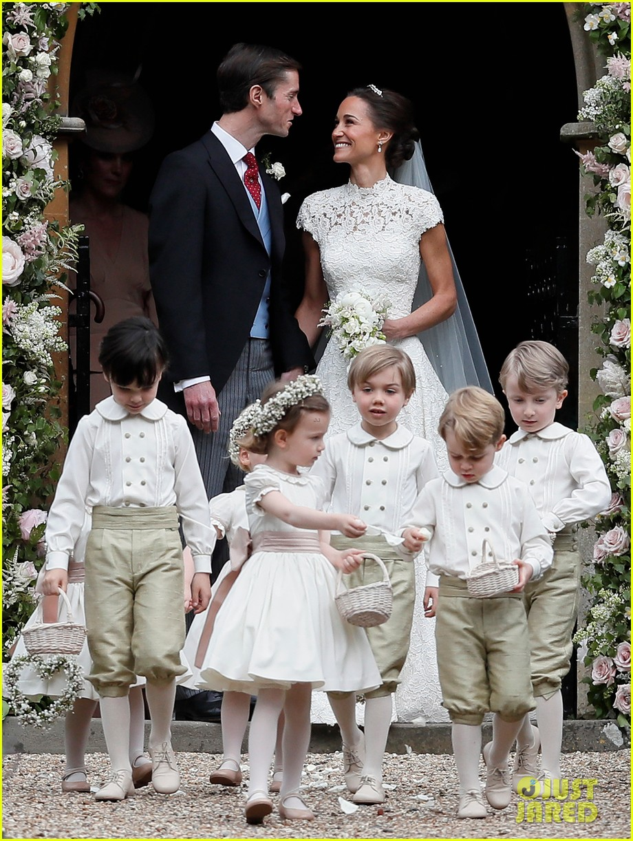 Kate Middleton Prince William Amp Kids Attend Pippa S