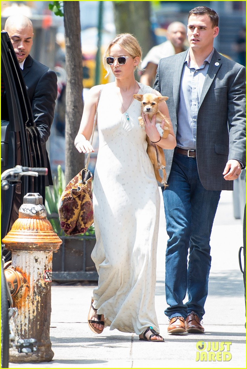 jennifer lawrence visits boyfriend darren aronofskys house with her dog 053901642