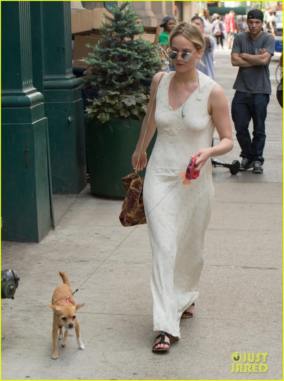 jennifer lawrence visits boyfriend darren aronofskys house with her dog 103901647