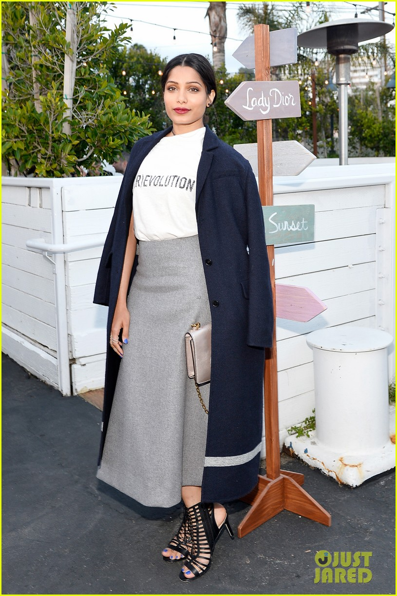 freida pinto steps out to play with jaime king kiernan shipka at christian dior cruise 243897529