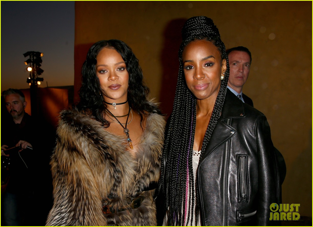 rihanna buddies up with kelly rowland at dior cruise runway show 2018 193897965