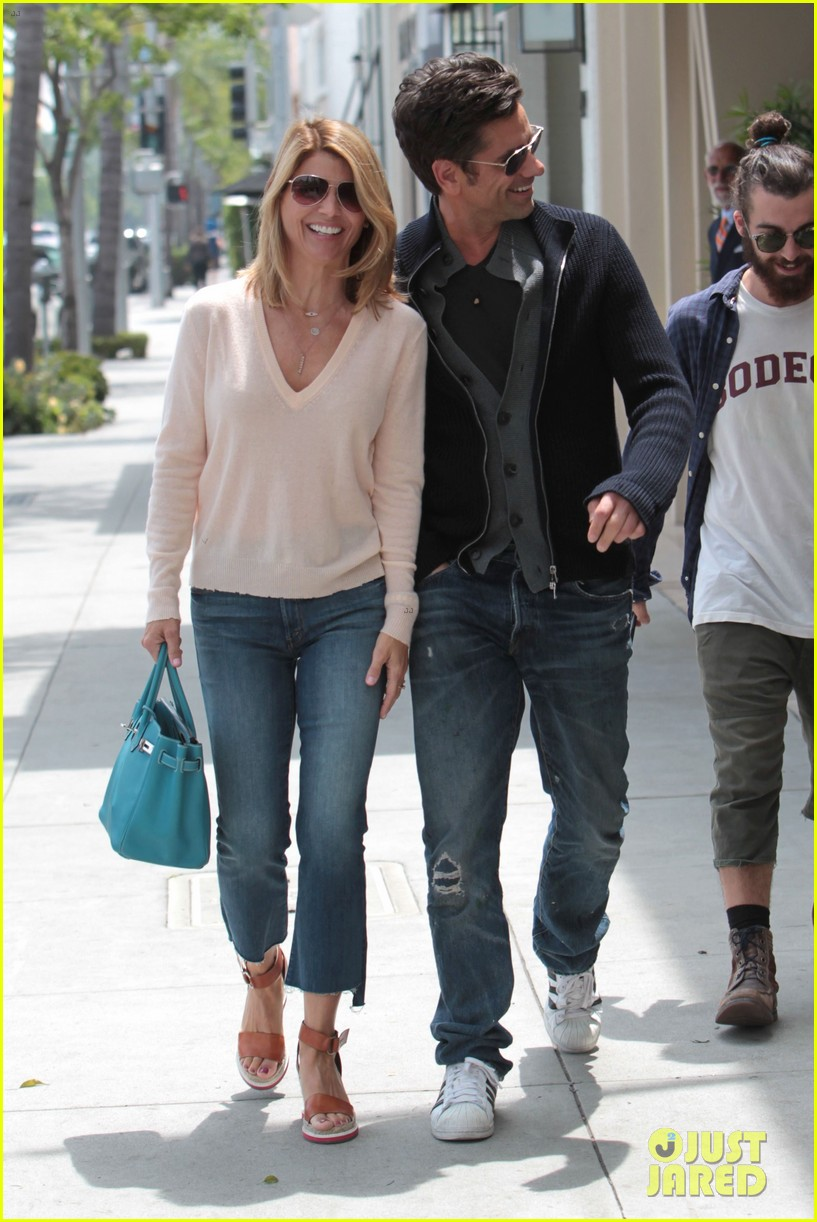 full house s john stamos lori loughlin step out for lunch photo