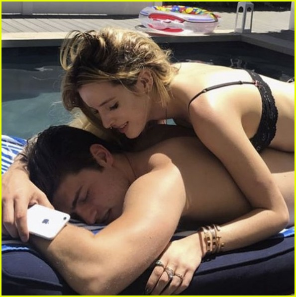 bella thorne hits the pool with gregg sulkin for his birthday 043906767