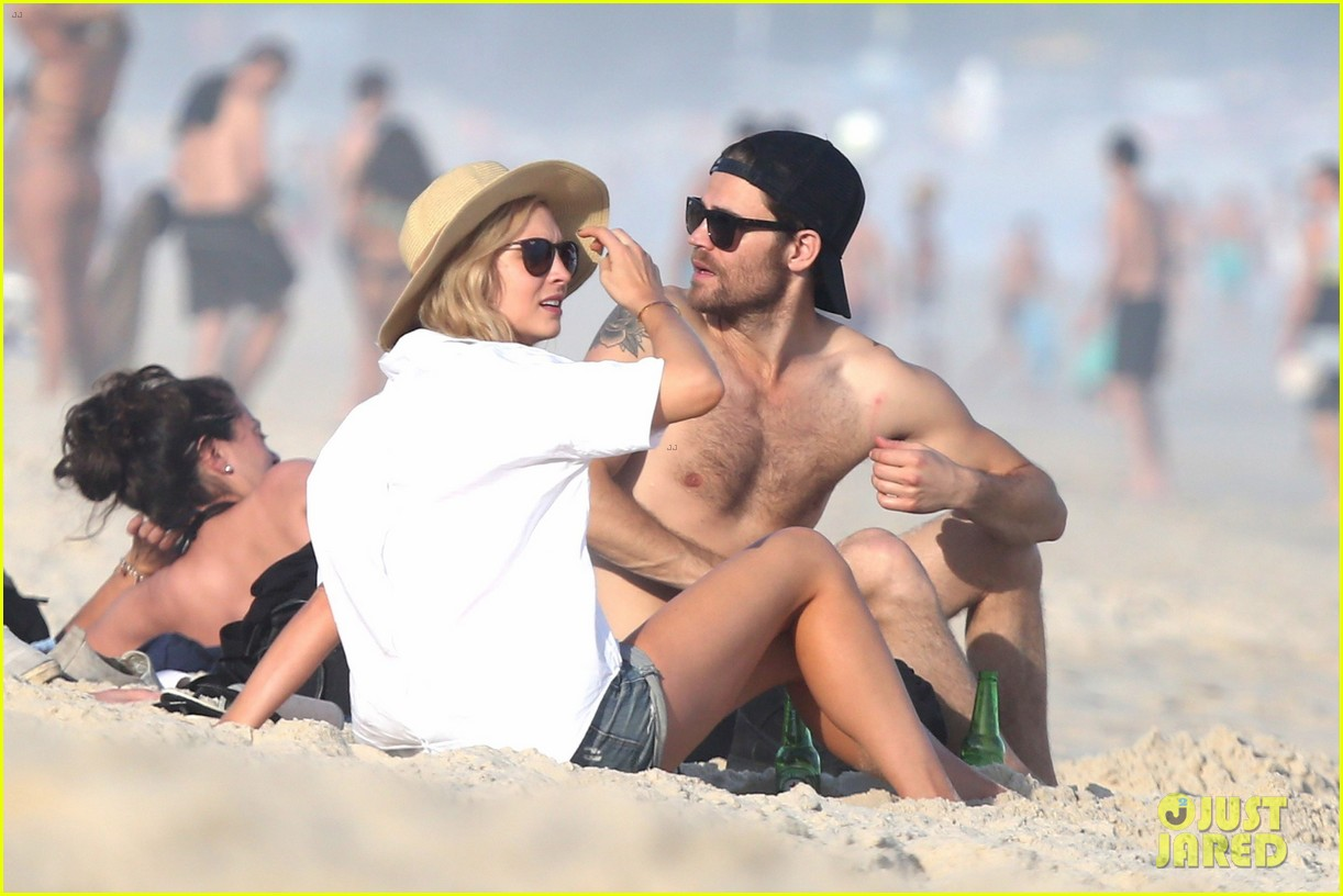 paul wesley candice king hit the beach in rio 013895356